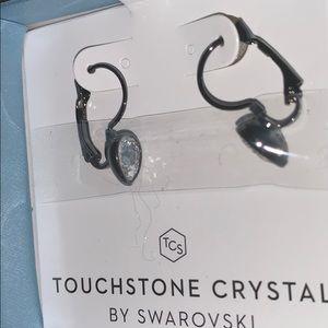 NWT Touchstone crystal teardrop earrings